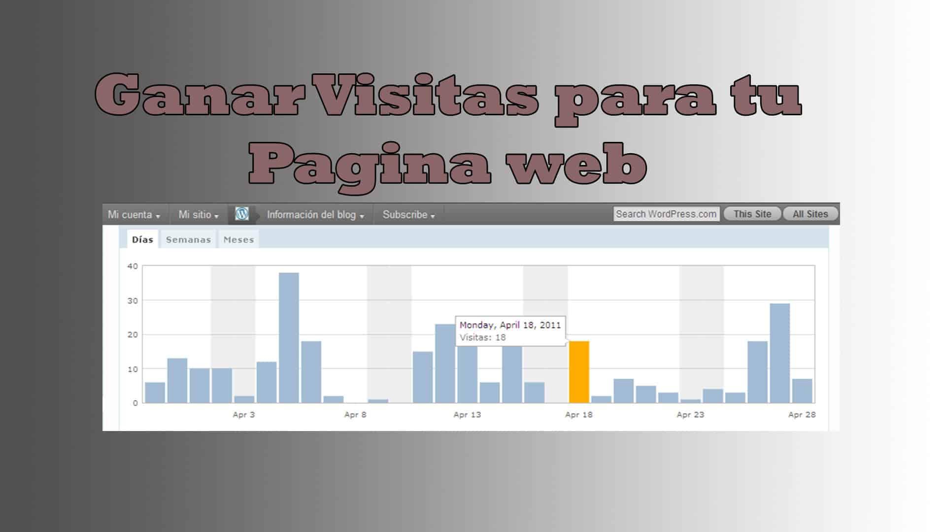 Ganar mas visitas para tu pagina web
