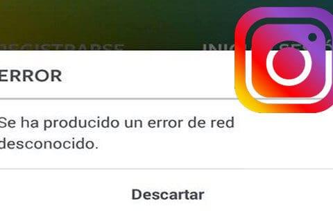 instagram error desconocido