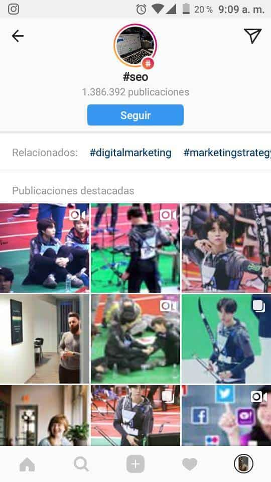 Actualizacion instagram
